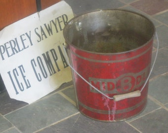 SALE!! Antique Red Bucket / Red Pail