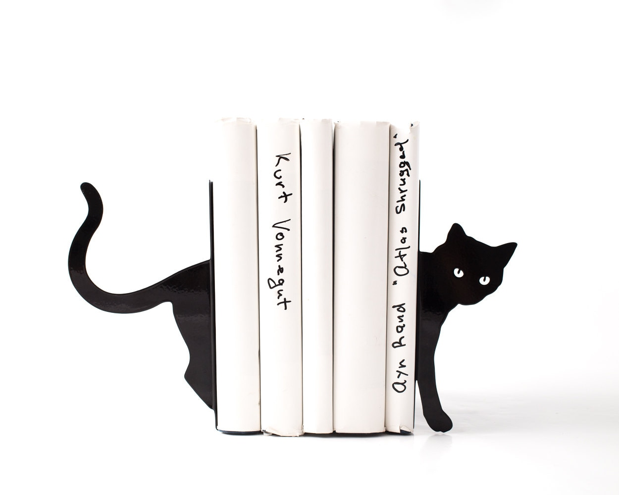 Decorative Bookends Cat And Books Functional Decor Modern
