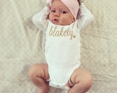 Baby Name Onesie, Baby Girl Onesie, New Baby Gift