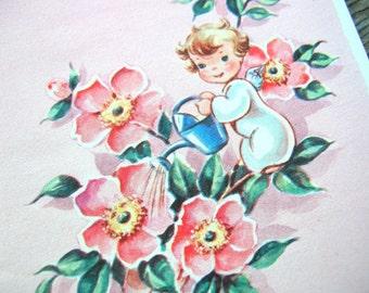 Unused Vintage Note Cards - Vintage Ephemera - Fairy and Flower Card Lot
