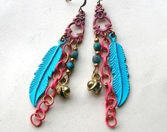 Long Bohemian Earrings - Boho Earrings - Handmade Earrings - Bohemian Jewelry - Boho Jewelry - Boho Chic