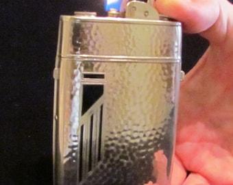 Vintage 1940s Evans Trig-A-Lite Case Lighter Cigarette Case Cigarette Lighter Combination Art Deco Working Lighter Excellent Condition