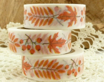 Rosehips and Fall Leaves Washi Tape - FF1644