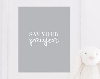 PRINTABLE Motivational PRAYERS Typography Quote Inspirational Print Nursery Decor Home Art