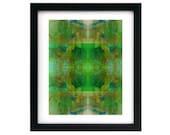 8.5 x 11 Modern Art Spiral Splatter Print - Signed Numbered