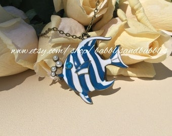Pearl Bubble Angelfish Necklace - Fast Shipping