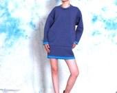 autumn dress winter dress blue thick space cotton loose dress shirt