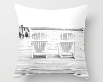 Photo Pillow Cover Decorative White Pillow Water Pillow Camp Pillow Beachy Pillow Cover