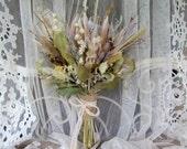 Wedding Bouquet Dried Flower Bouquet Dried Arrangement Protea White Peacock Feather
