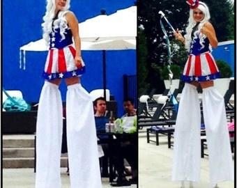 Stilt walking costume, pants, covers