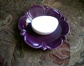 Purple Ceramic Soap Dish with Soap!