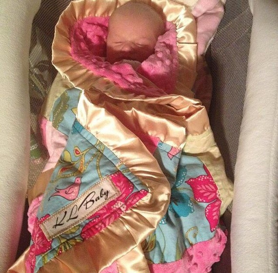 Beach Theme Blanket: Hawaii Beach Theme Baby Girl Blanket