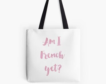 French Tote Bag - Paris bag - French market bag