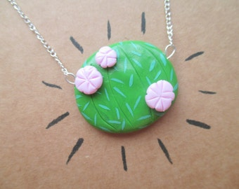Flowering Cacti necklace