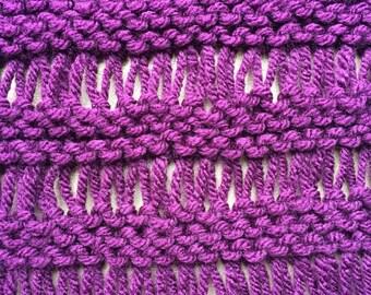 Drop Stitch Scarf