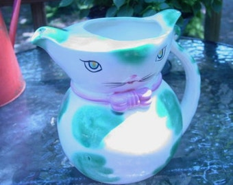 Vintage Japan Kitty Cat Water Pitcher