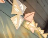 Paper Lantern Garland - METEOR - handmade geometric lanterns with die cut facets