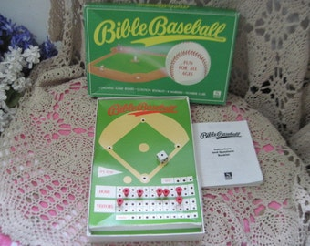 Bible Base Ball Game 1993, Vintage Board Game, Board Game, Religious Board Game, Family Game Night, Use for Prop,  :)s*