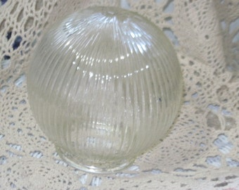 Light Shade Vintage, Vintage Light Shade, Round Light Shade, Ceiling light Shade, Ribbed Round Light Shade, Vintage Home Decor,