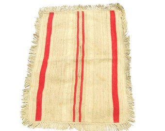 Handwoven Child's Serape Early 20th Century Native American Textiles Weaving Mexican Highlands
