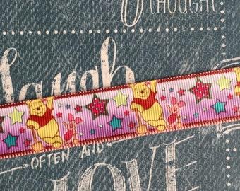 """7/8"""" Grosgrain Winnie the Pooh Ribbon"""
