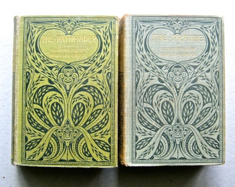 """Two Antique Books, First Edition Fenimore Cooper """"The Prairie,"""" 1900; First Edition """"The Pathfinder,"""" I903; Both llustrated by C E Brock,"""