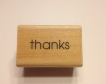 thanks rubber stamp, 25 mm (A11)