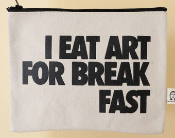 i eat art for breakfast pouch