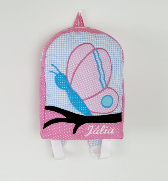 Kids Backpack,   Butterfly Toddler Backpack,  Preschool Backpack, Personalized Backpack