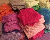 Dimple Dot Minky Fabric Remnant Scraps (you choose the color) 14-15 ounces
