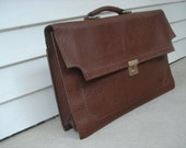 Handsome leather-look attache case by Lancer Luggage