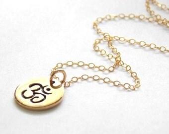 Bronze and Gold Filled Ohm Necklace. Yoga,Namaste,Bohemian