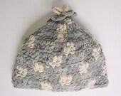 Grey And Cream Hat Fleece Like Yarn  Boy Winter Cap 5 Years To Preteen Girl Fall  Beanie Skullcap