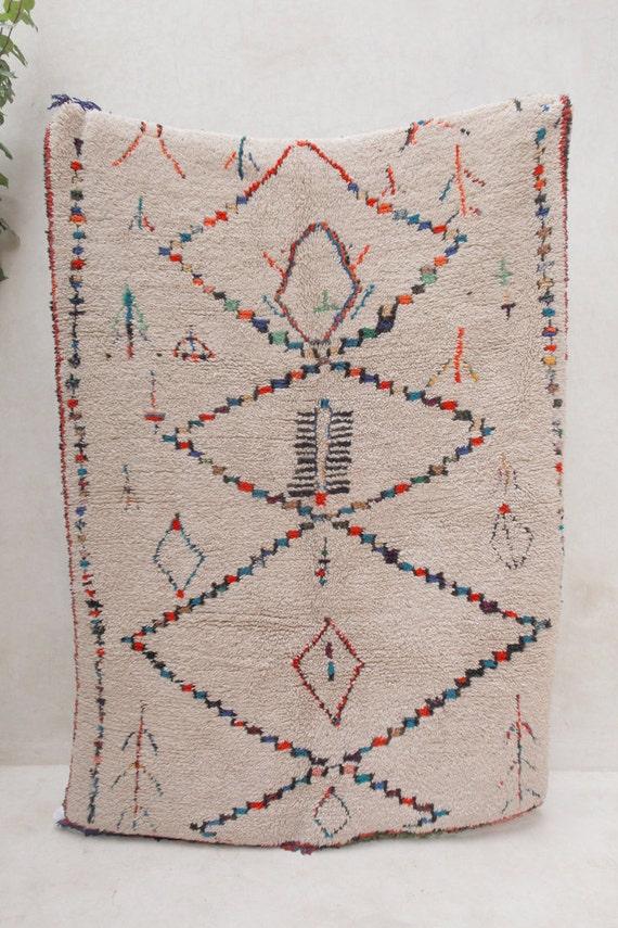 BUTTERFLIES of the BRITISH ISLES 7'x5' Boucherouite Rug. Tapis Moroccan. Teppich Berber. Mid Century Modern Danish Design Compliment.
