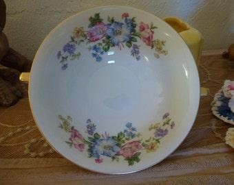 """Vintage Porcelain Soup Bowl """"Blossom"""" Pattern  H & C Selb Bavaria Germany Heinrich Marked U.S. Zone"""