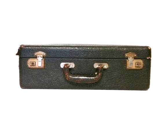 Leather Suitecase Early 1900's Gentlemen's Overnight Luggage Briefcase