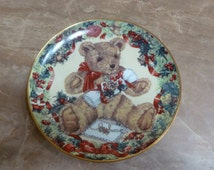Teddy Bear plate Teddy's First Christmas by Sarah Rengry Franklin Mint