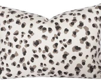 Leopard Print Pillow Cover, Grey Leopard Pillow, Leopard Pillow Cover, Modern Leopard Pillow, Grey and White Leopard Print Pillow