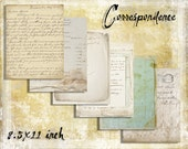 Digital Paper Pack The Correspondence Collection 8.5x11 downloadable printables