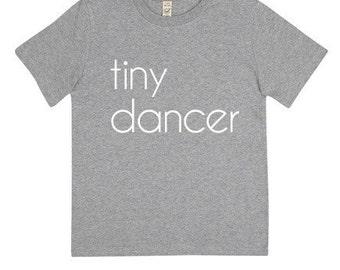 Kids Tiny Dancer Organic T-shirt   Grey
