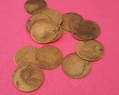 20pc 20mm antique bronze finish Iron Blank Stamping Tag Pendants-8406A