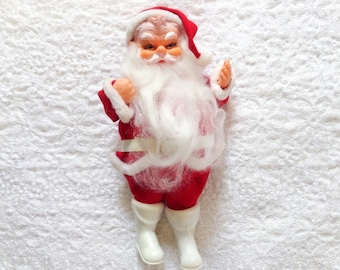 Vintage Christmas Santa Ornament Japan Mid Century Decoration