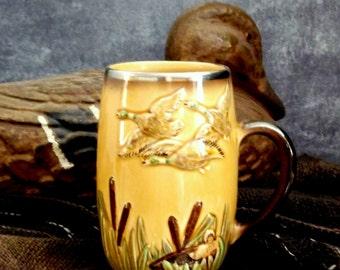 Vintage Sylvac Pottery Mug, Collectible Sylvac Mug, Made in England, Mid Century, 1950s - 1960s  ** Epsteam