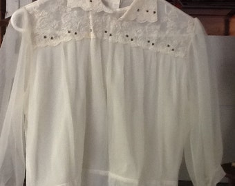 Vintage Sheer 40's Blouse