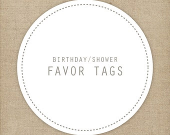 Personalized matching favor tags | Printable