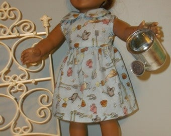 18 Inch doll Clothes Gardening sundress and watering can by  Project funway on Etsy