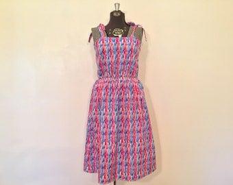 Vintage Tank Dress / Med/Large / Vintage Summer Dress
