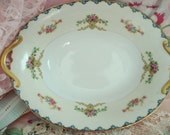 Vintage Serving Dish Bowl Noritake China Shabby Cottage Chic Floral Rose 1940s