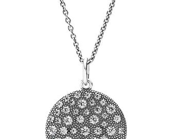 925 Sterling Silver Chain Cosmic Stars Drop Pendant Necklace 90cm+Extension Chain