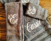 Oversized set of Monogrammed Towels